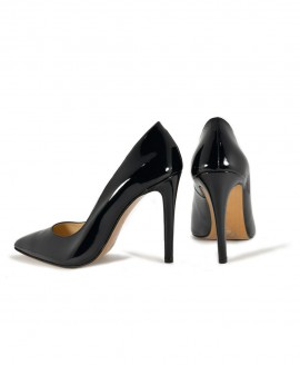 Black Patented  Leather Pointed Pump Mod.2398