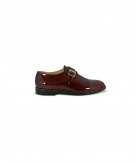 Ladies' Oxfords Monk Strap Burgundy Patented Leather Mod.2584